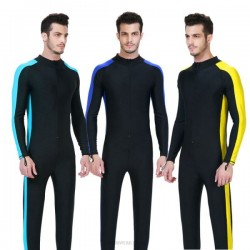 One Piece Sun Protective Dive Skin Snorkeling Suit Long Sleeves Diving Suit Wetsuit Man Swimwear Surfing 1008