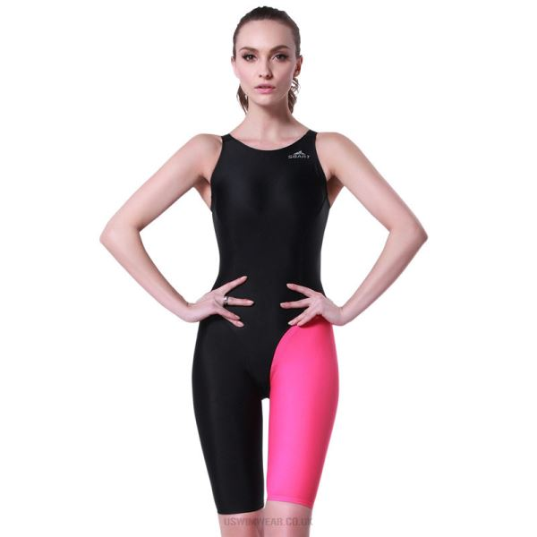 One Piece Womens Sport Swimsuits Boxer Spa Suit Blackless Swimwear