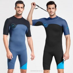 One Piece Diving Suit Man 2Mm Warm Cold Proof Long Sleeves Snorkeling Suit Sun Protective Clothing Surf Suit Winter Swimming Suits