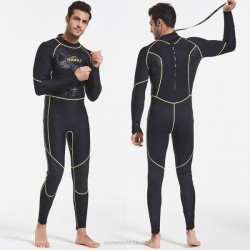 One Piece Diving Suit Man Thicken Warm Sun Protective Zipper Long Sleeves Swimwear