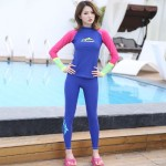 Diving Suit Womens Snorkeling Suit Two Piece Sun Protective Dive Skin Long Sleeves Surf Suit Skinny Spa Swimwear