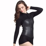 2Mm Rubber Diving Suit Warm Winter Swimming Long Sleeves One Piece Swimwear Thicken Womens Dive Skin Surf Suit