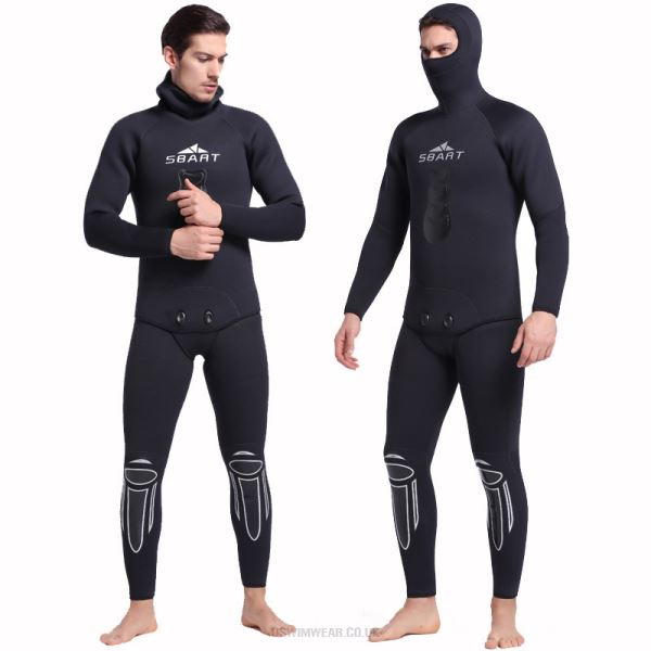 5Mm Rubber Diving Suit Warm Winter Swimming Long Sleeves One Piece Two Piece Swimwear Thicken Jellyfish Suit