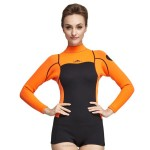 2Mm Long Sleeves Womens Warm Thicken Diving Suit Womens Sun Protective Swimwear Cold Proof Warm