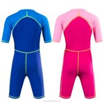 Children Swimsuits Sun Protective Long Sleeves Snorkeling Suit Girl Boy One Piece Swimwear Baby Quick Drying Diving Suit