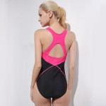 One Piece Swimwear Womens Professional Blackless Swimsuits Cover Belly Tankinis Skinny Swimwear Sport Adult Swimsuits