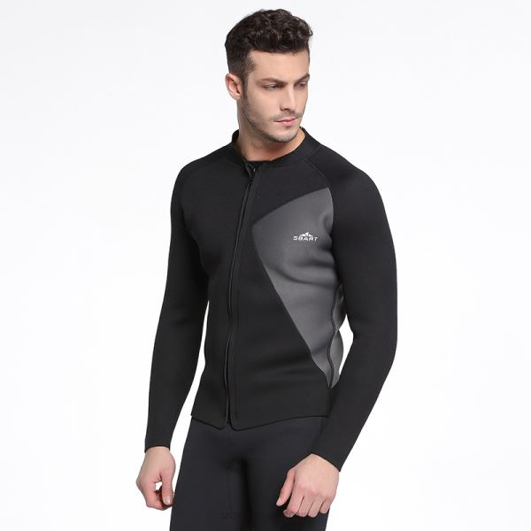 3Mm Diving Suit Thicken Warm Cold Proof Winter Swimwear Two Piece Long Sleeves Surf Suit Man