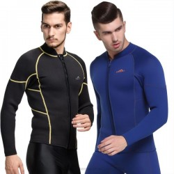 3Mm Two Piece Wetsuit Man Long Sleeves Snorkeling Suit Surfing Cold Proof Top Warm Winter Swimming Dive Skin