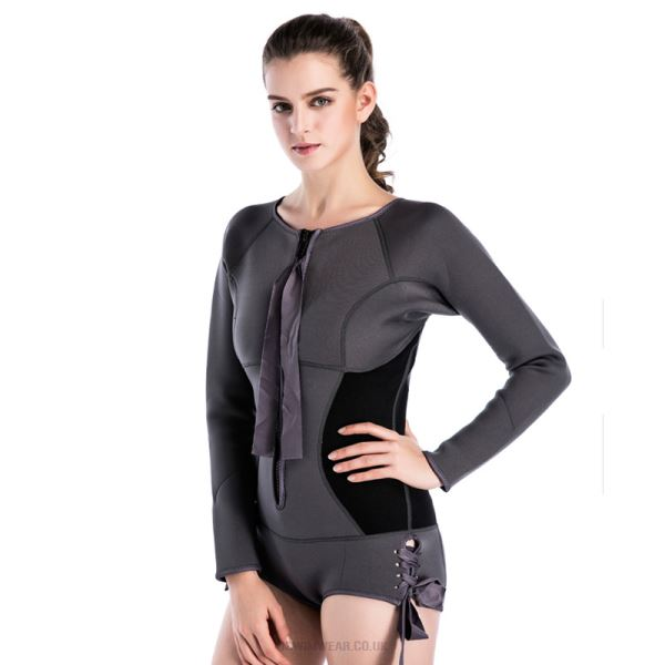 2Mm Thicken Diving Suit Long Sleeves One Piece Warm Winter Swimming Swimwear Zipper Dive Skin