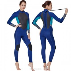 Womens One Piece Thicken Diving Suit Long Sleeves Warm Winter Swimwear Surf Suit Dive Skin Snorkeling Suit