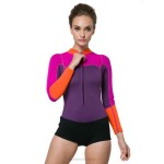 2Mm Surfing Diving Suit Womens Warm Winter Swimming Snorkeling Suit Long Sleeves Skinny One Piece Spa Swimwear Thicken Jellyfish Suit