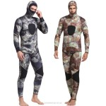 3Mm Rubber Diving Suit Warm Winter Swimming Long Sleeves One Piece Swimwear Two Piece Thicken Jellyfish Suit
