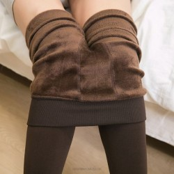 200G Pearl Seamless Pants Thicken Warm Leggings Women